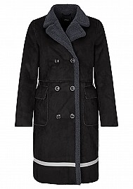 s.Oliver BLACK LABEL Leder-Look-Mantel