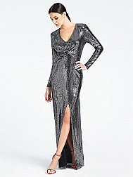 Guess Langes Kleid Marciano Metall-Optik
